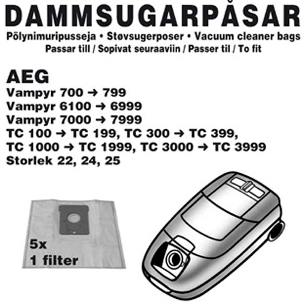 Champion Dammpåsar AEG 5st
