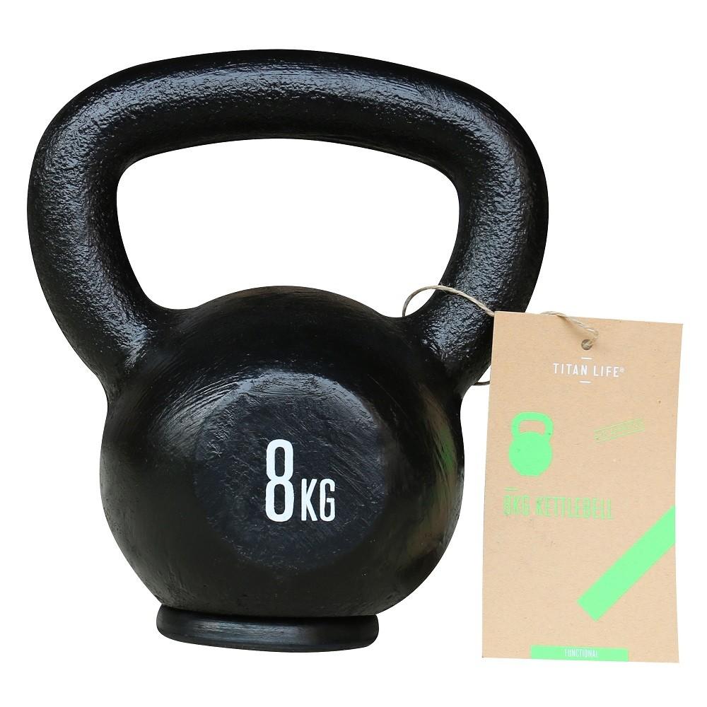TITAN LIFE Kettlebell Cast Iron Black - 8 kg