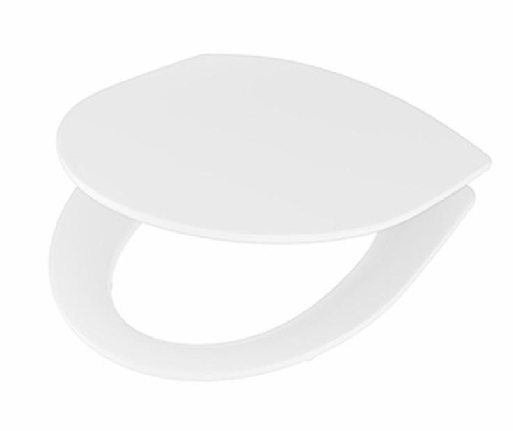 Ifö WC-Sits Spira Hårdsits Med Vita Beslag