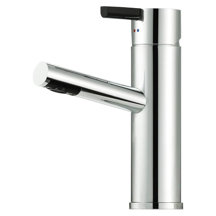 Mora Tvättställsblandare Rexx B5 Krom/Svart med lyftventil