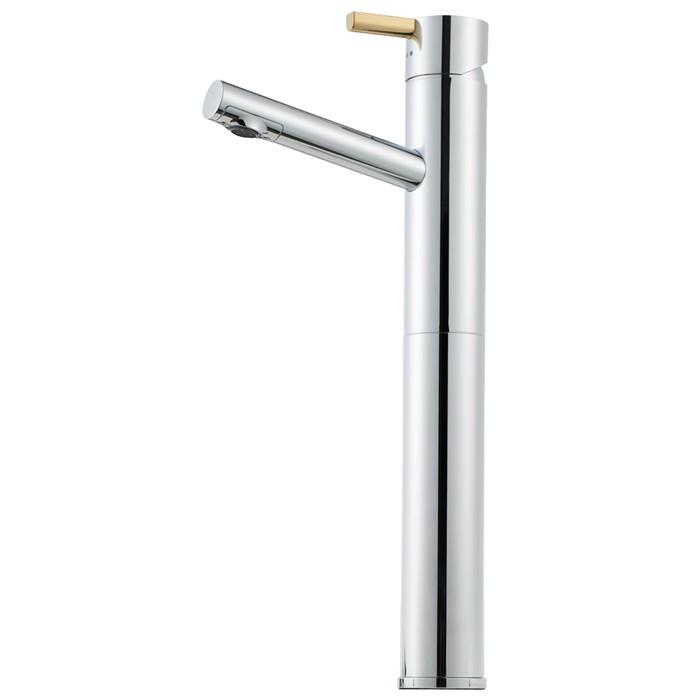 Mora Tvättställsblandare Rexx B5 Krom/Guld med förhöjd fot