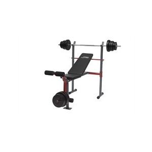 Titan Bench incl. 50 kg - RED
