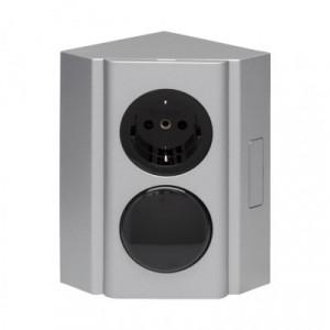 Beslag Design Kopplingsbox strömbrytare/eluttag (230V)
