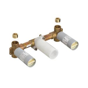 Hansgrohe Axor Massaud Inbyggnadsdel för 3-håls tvättställsblandare (för väggmon