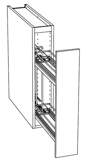 Ballingslöv Bänkskåp C15UISF med gallerutdrag