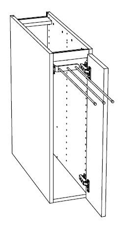 Ballingslöv Bänkskåp C2T med 3 handduksstänger - Höger