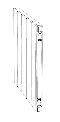 Ballingslöv Pelare Rak + Frisida 1350x50x345 BT