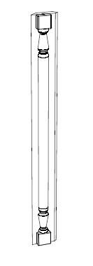 Ballingslöv Pelare 45 Grader 700x50 BT