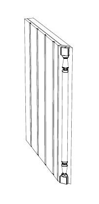 Ballingslöv Pelare 45 Grader + Frisida 2098x50x598 BT