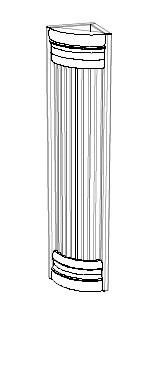 Ballingslöv Pelare Kvartsrund 1948x130 BT