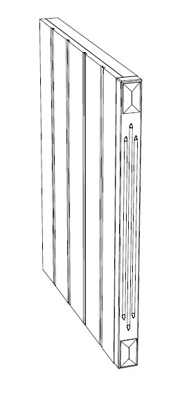 Ballingslöv Dekorben + Frisida 2098x50x598 BT