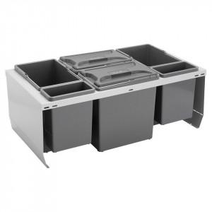 Beslag Design Källsortering CUBE 800 S Silver