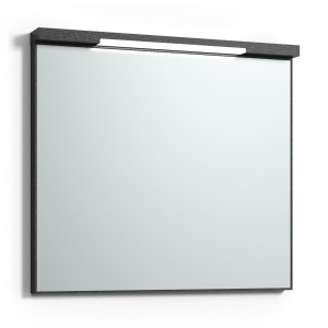 Svedbergs Spegel Top-Mirror 80 LED Svart Ek