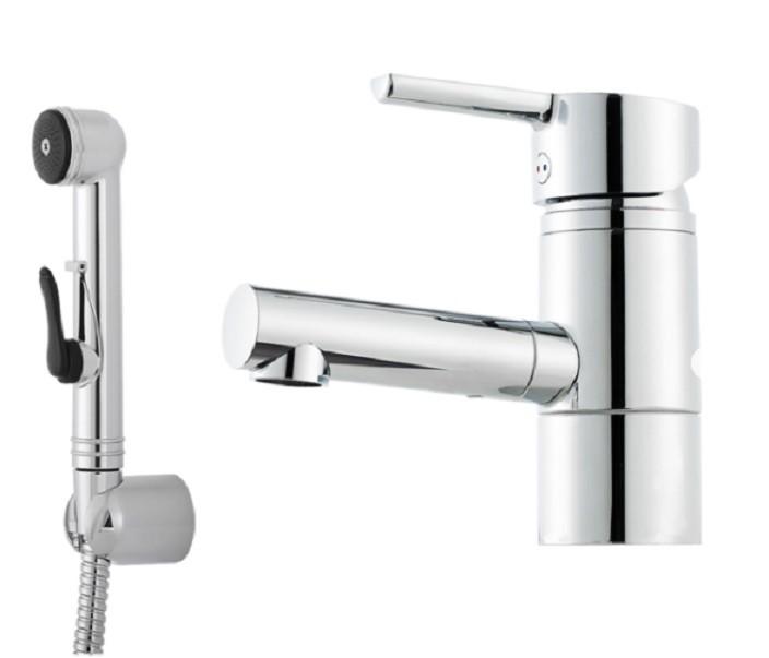 Mora Tvättställsblandare MMIX B6 med svängbar pip och handdusch