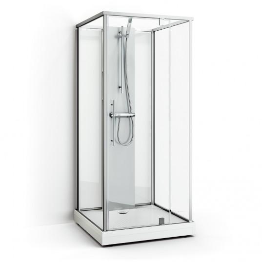 Box One - Klarglas Natur 103x103
