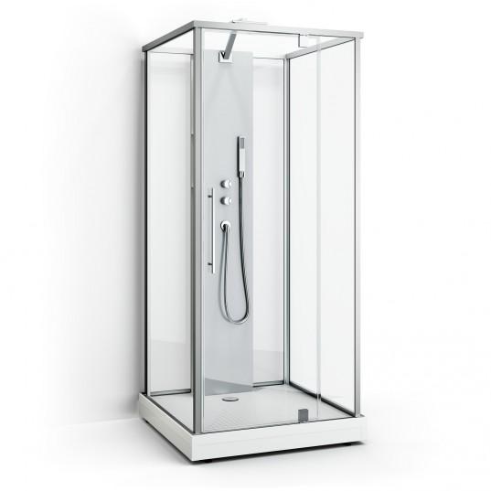Box Two - Klarglas Natur 93x93