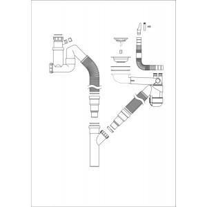Decosteel vattenlås 13729 till Avfallskvarn