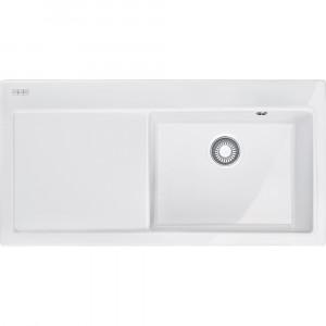 Franke MTK 611 hö, porslin,white,push waste,v-lås