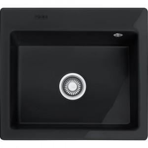 Franke MTK 610-58, porslin,black,push waste,v-lås