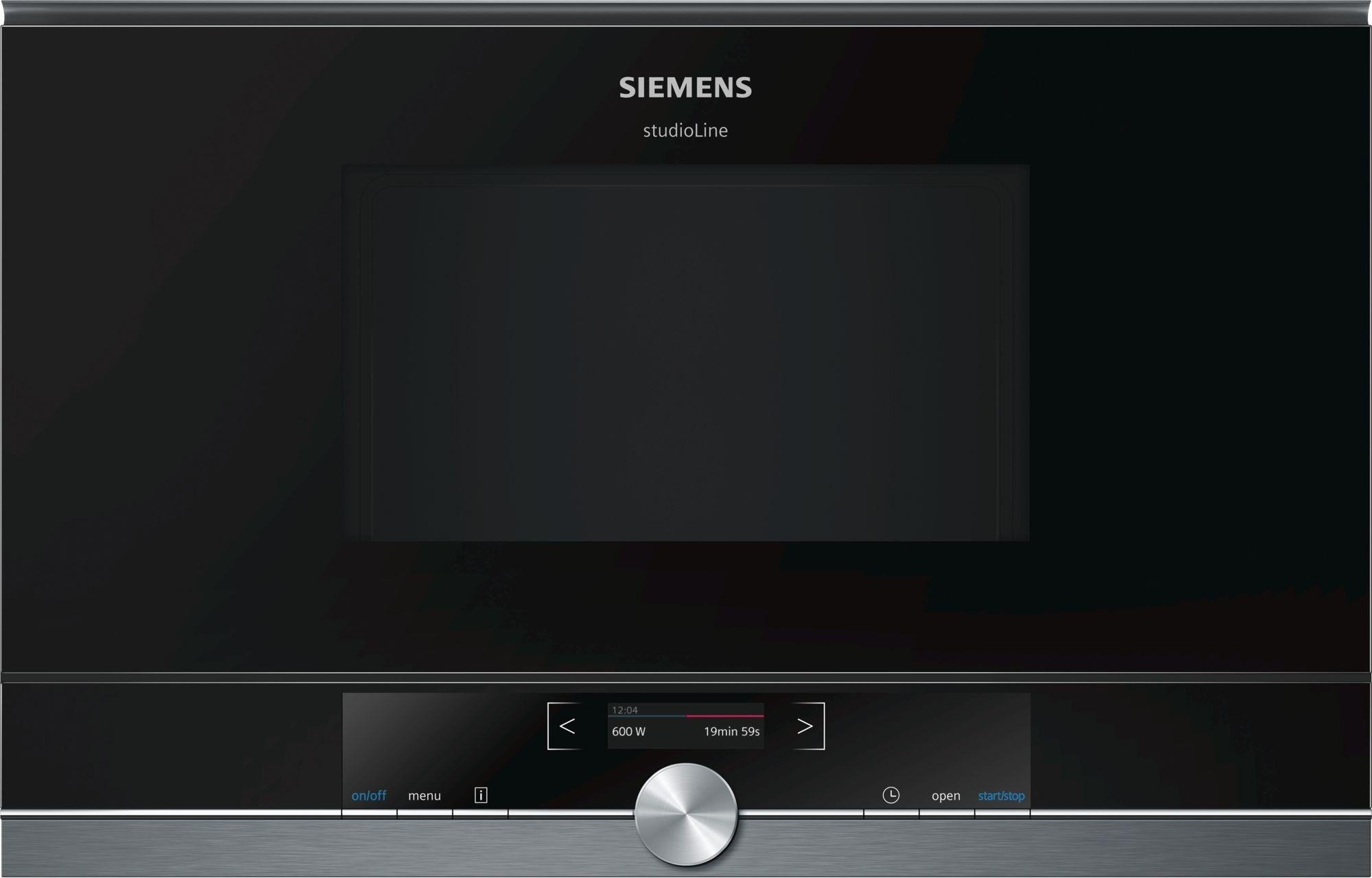 Siemens Mikrovågsugn BF834LGB1 blackSteel