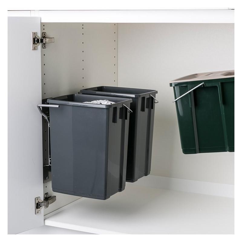 Ballingslöv Avfallshink AHSP Pelly 2 st 10 liter och 1 st 6 liter i Grå