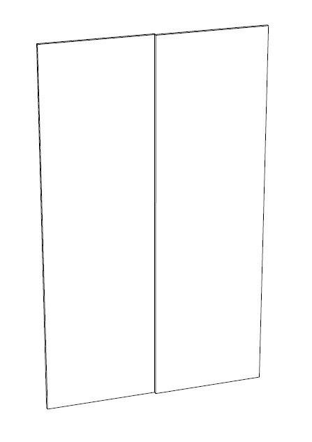 Ballingslöv Skjutdörr SMART2K SMART med 2-dörrar, vita