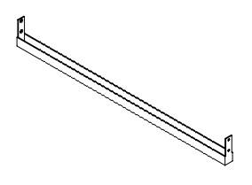 Ballingslöv Stödlist STBS450 för bänkskiva, L 450 - 45 cm